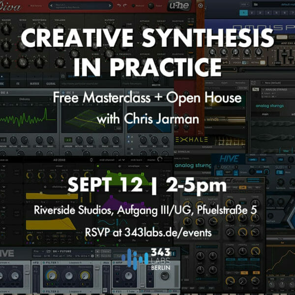 Berlin Synthesis Masterclass Sept 12