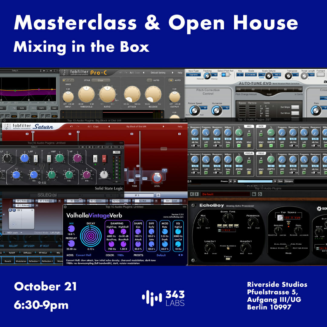Berlin Mixing Masterclass and Open House